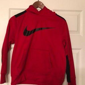 Boys Red Nike Hoodie